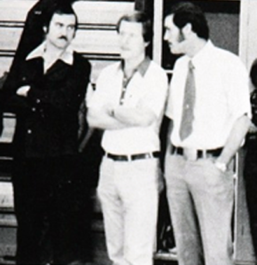 Me, Terry, Reed Briggs (Reed & I were hired to coach Basketball but the look on Terry's face tells me that we were talking Water Polo-lol