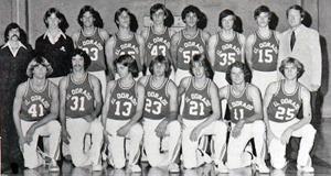 Varsity B-Ball Team 77' (Phil Oats [L] & Terry Battenberg [R])
